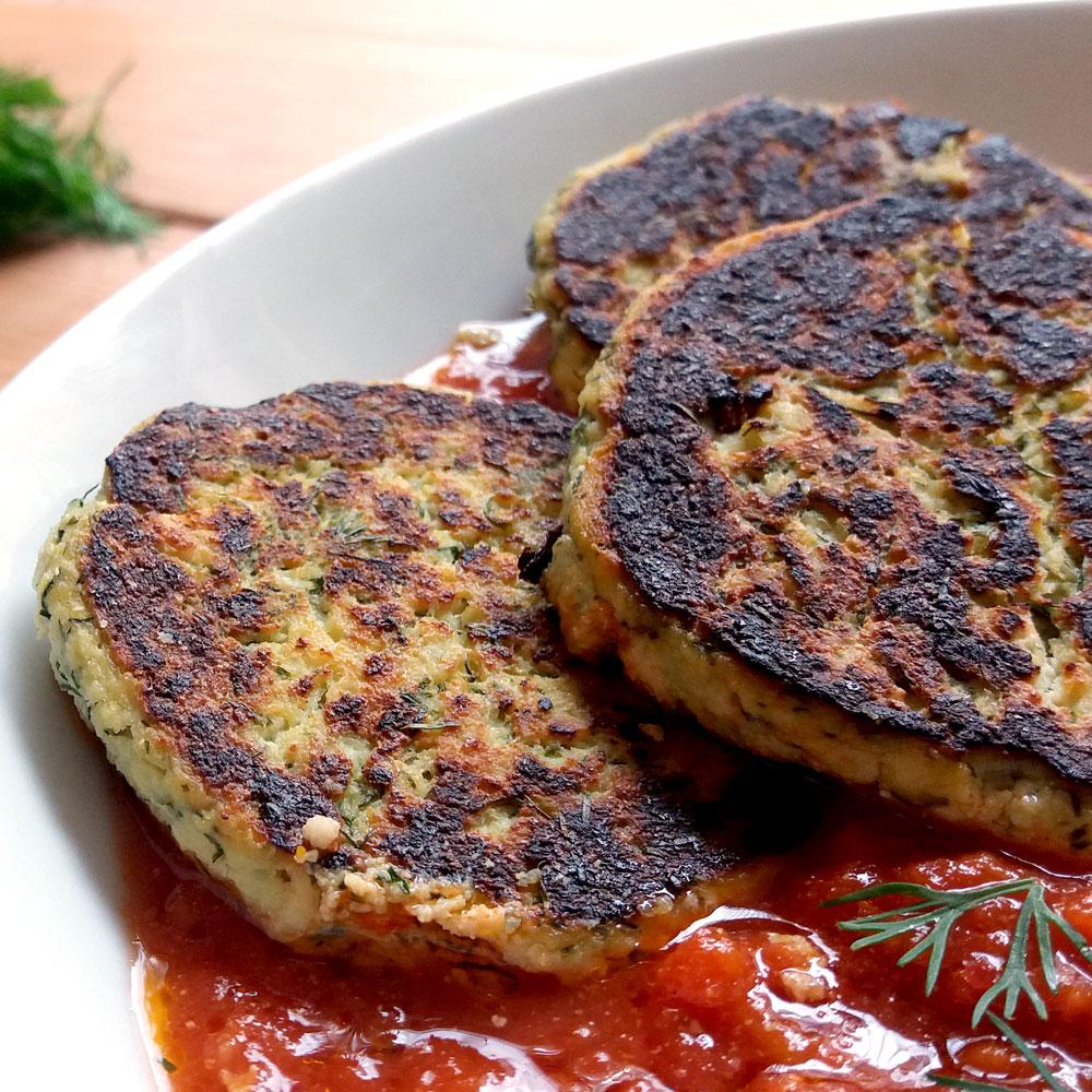 חלבון לטבעונים. לביבות טופו וארטישוק ירושלמי