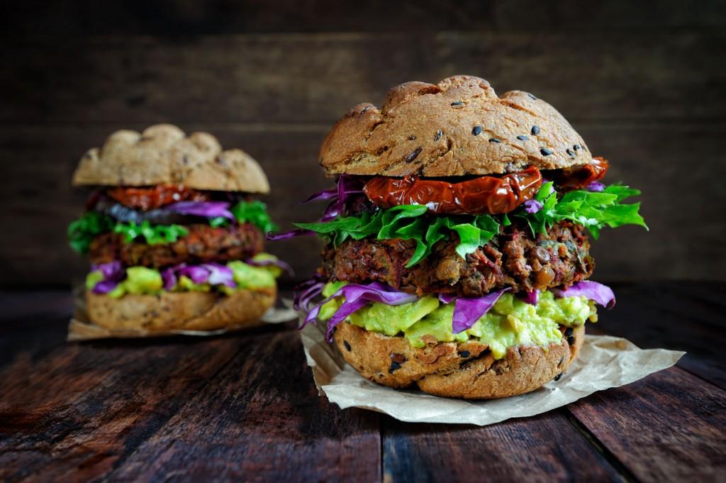 המבורגר טבעוני מעדשים