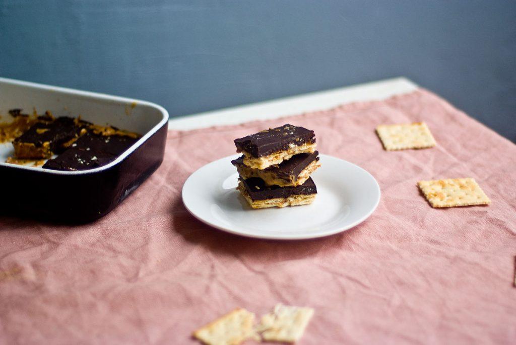 חטיף חמאת בוטנים ושוקולד