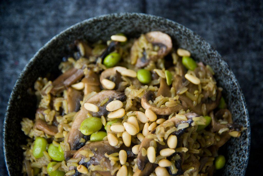 תבשיל אורז ופטריות