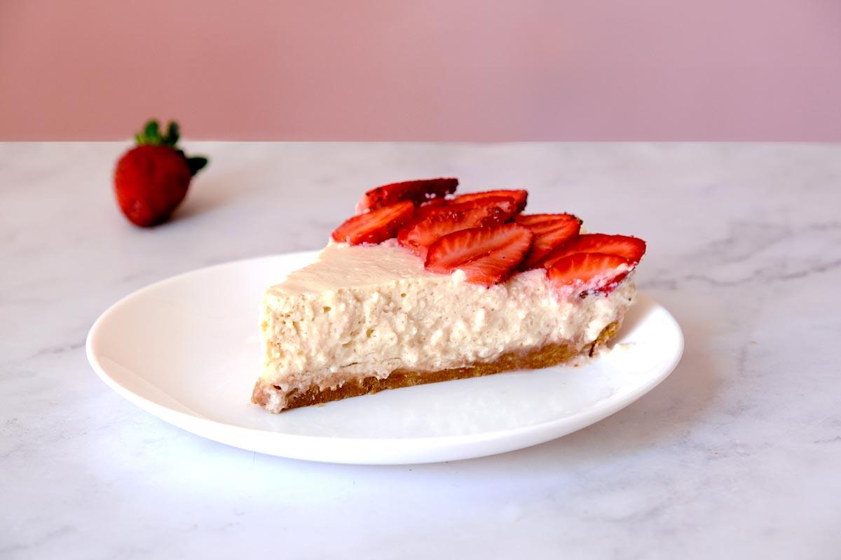 עוגת גבינה טבעונית דלת קלוריות